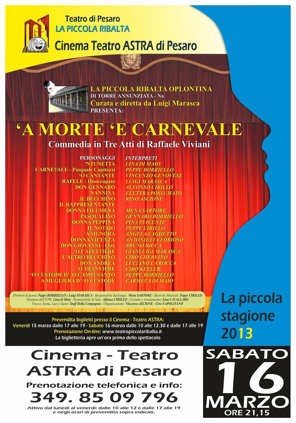 Cast Arredo Torre Annunziata teatro di pesaro la piccola ribalta - la piccola stagione 2013